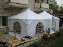 "Шатра двукуполна пагода ""Лондон"" с размери 3,6 х 7,2м - 26 кв.м за частно градинско парти"