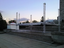 """Шатри  """"Газебо """"5 х 5 м - 25 кв.метра и оборудване за концерт под наем"""