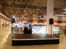 Сцена подиум 4 х 3м - 12 кв.м и озвучаване
